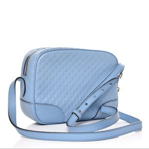 BRAND NEW Bree Guccissima Leather Disco Bag, Blue